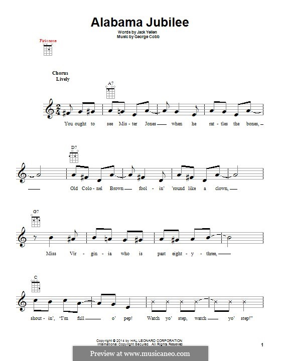Alabama Jubilee: For ukulele by George L. Cobb