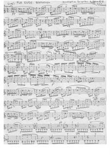 For Elise, WoO 59: For guitar by Ludwig van Beethoven