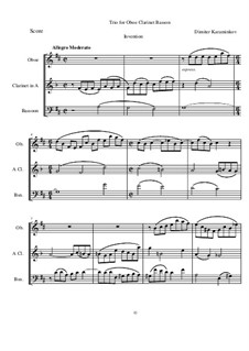 Trio for Oboe, Clarinet and Bassoon: Trio for Oboe, Clarinet and Bassoon by Dimitar Karaminkov