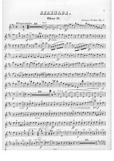 Serenade No.1 in D Major, Op.11: Oboe II part by Johannes Brahms