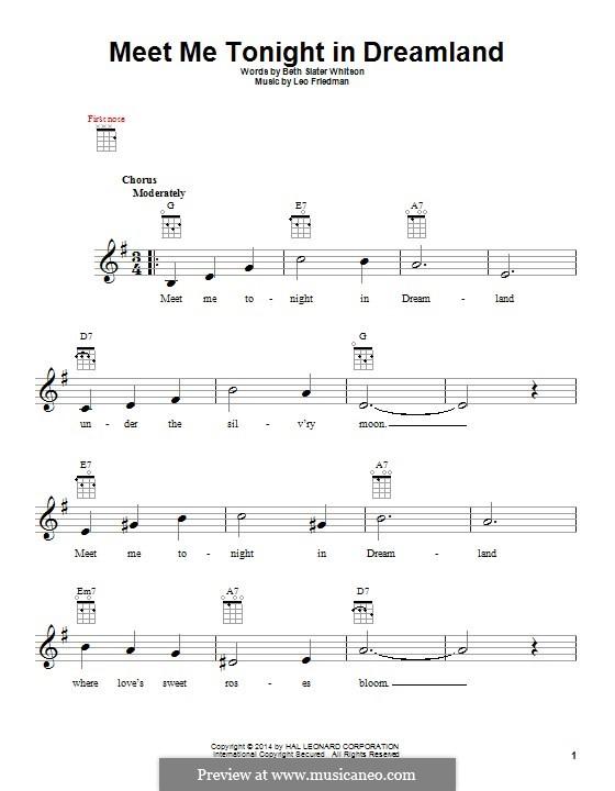 Meet Me Tonight in Dreamland: For ukulele by Leo Friedman