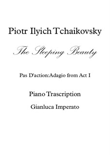 Fragments: Pas D'action, for piano by Pyotr Tchaikovsky