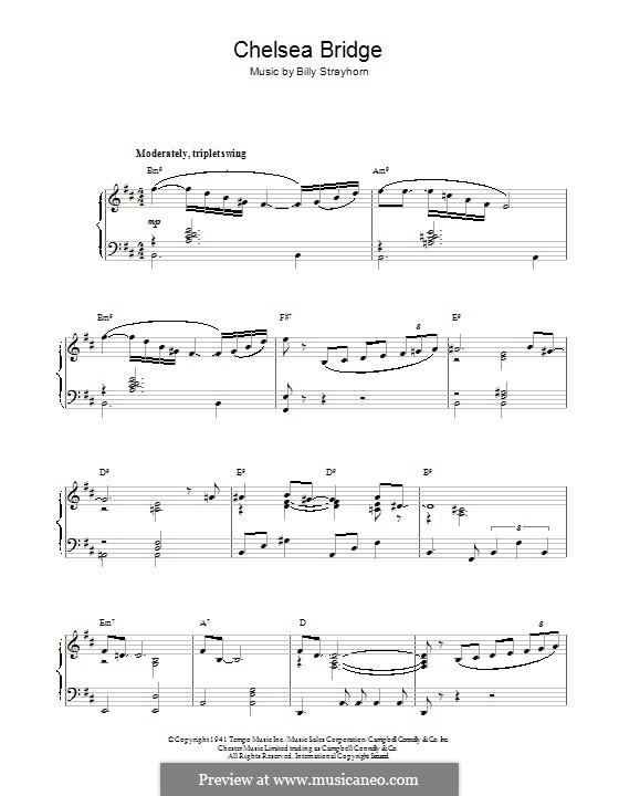 Chelsea Bridge (Duke Ellington): For piano by Billy Strayhorn