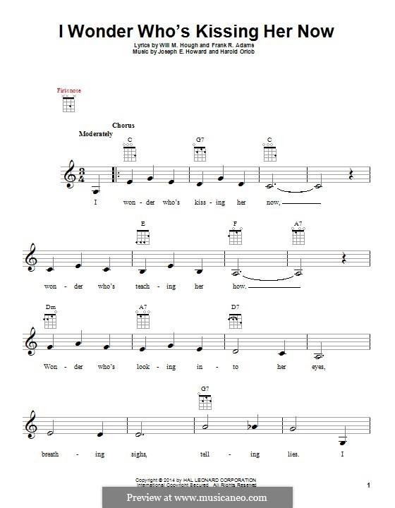 I Wonder Who's Kissing Her Now: For ukulele by Joseph Edgar Howard