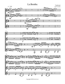 La Bamba: For guitar quartet - score and parts by folklore, Ritchie Valens