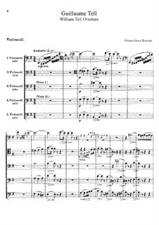 Overture: Cellos parts by Gioacchino Rossini
