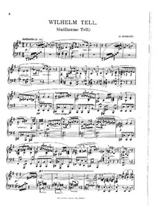 Overture: For piano (with fingering) by Gioacchino Rossini