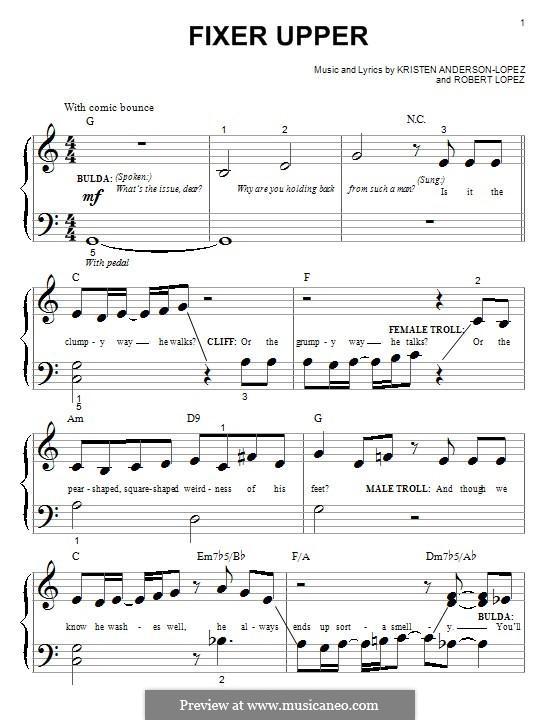 Fixer Upper: For piano by Robert Lopez, Kristen Anderson-Lopez