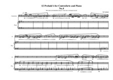 12 Prelude's for Contraforte and Piano: Prelude No.4, MVWV 745 by Maurice Verheul