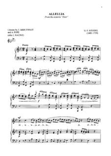 Esther, HWV 50b: Alleluja by Georg Friedrich Händel