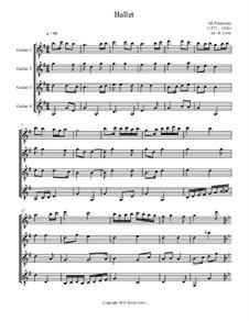 Terpsichore: Ballet, for guitar quartet - score and parts by Michael Praetorius