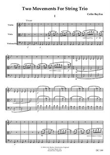 Two Movements for String Trio, B80: Two Movements for String Trio by Colin Bayliss
