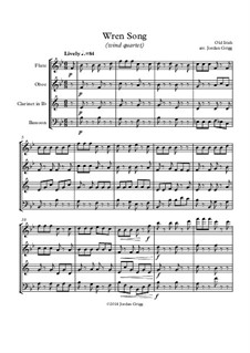 Wren Song: For wind quartet by Unknown (works before 1850)