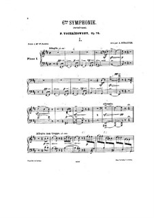 Complete Movements: For two pianos – piano I part by Pyotr Tchaikovsky
