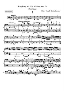 Complete Movements: Cellos part by Pyotr Tchaikovsky