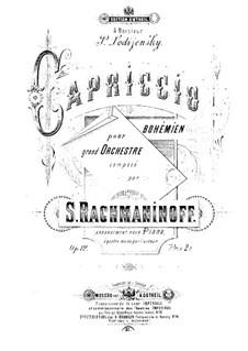 Capriccio Bohémièn, Op.12: For piano four hands by Sergei Rachmaninoff