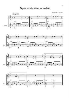 Shine, My Star, Do Not Fall (Duo: Free choice; Any Instrument): Shine, My Star, Do Not Fall (Duo: Free choice; Any Instrument) by Sergej Kolgan