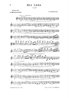 Four Waltzes for Mandolin Solo (or Violin Solo): No.4 Mia Cara by Procida Bucalossi