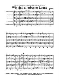 Wir sind allerbester Laune: For sax quartet by Thomas Hans Graf