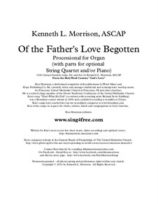 Of The Father's Love Begotten: For string orchestra by Unknown (works before 1850)