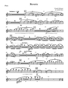 Rêverie, L.68: For wind quintet – parts by Claude Debussy