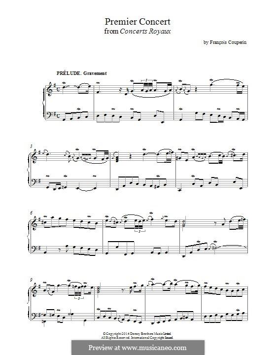 Quatre concerts royaux: Concert No.1, for piano by François Couperin