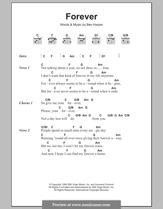 Forever by B. Harper - sheet music on MusicaNeo