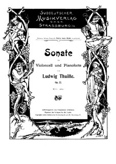 Sonata for Cello and Piano, Op.22: Solo part by Ludwig Thuille
