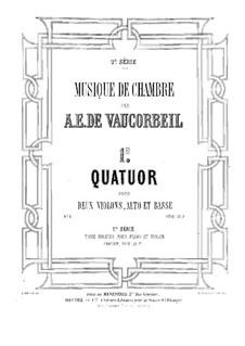 String Quartet No.1 in D Major: Violin II part by Auguste-Emmanuel Vaucorbeil