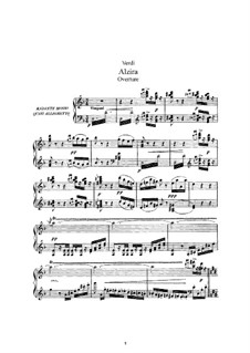 Alzira: Arrangement for voices and piano by Giuseppe Verdi