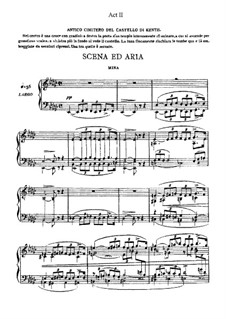 Aroldo: Act II. Arrangement for voices and piano by Giuseppe Verdi