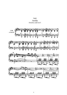 Aroldo: Arrangement for voices and piano by Giuseppe Verdi