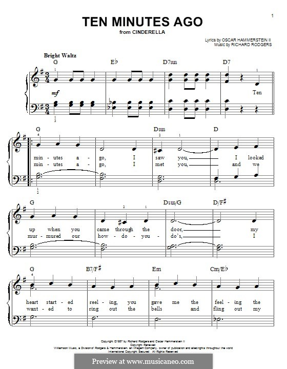 Ten Minutes Ago: For piano by Richard Rodgers