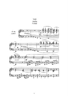 Attila: Arrangement for voices and piano by Giuseppe Verdi