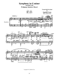 Movement II: Arrangement for piano by Wolfgang Amadeus Mozart