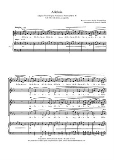 Variation No.9 'Nimrod': Alleluia. Adapted for choir and piano by Edward Elgar