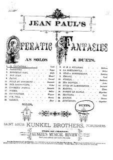 Fragments: Fantasia, for piano four hands by Giuseppe Verdi