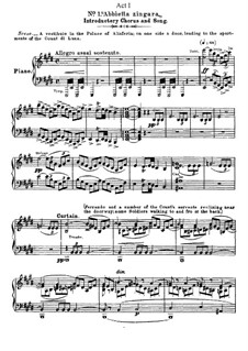 Fragments: Act I, No.1, for voices and piano by Giuseppe Verdi