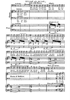 Fragments: Act I, No.3, for voices and piano by Giuseppe Verdi