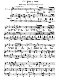 Fragments: Act II, No.8, for voices and piano by Giuseppe Verdi