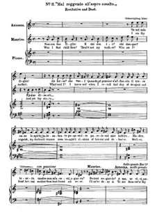 Fragments: Act II, No.11, for voices and piano by Giuseppe Verdi