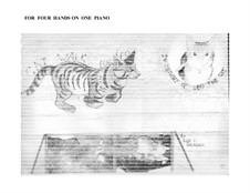 Cat Walk (in memory of Leo the cat): Version for four hands on one piano by Sonja Grossner