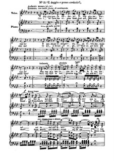 Fragments: Act II, No.15, for voices and piano by Giuseppe Verdi
