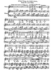 Fragments: Act IV, No.23, for voices and piano by Giuseppe Verdi