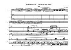 12 Prelude's for Contraforte and Piano: Prelude No.6, MVWV 747 by Maurice Verheul