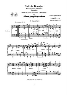 Suite in D Major, for piano, TWV 55:D6: Movement I Ouverture by Georg Philipp Telemann