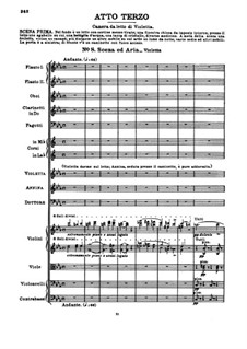 Fragments: Act III No.8 Scene and Violetta's Aria by Giuseppe Verdi