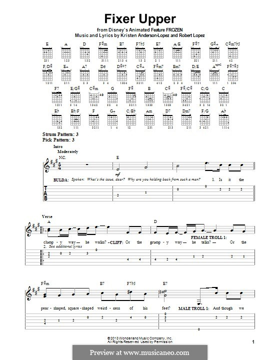Fixer Upper: For guitar with tab by Robert Lopez, Kristen Anderson-Lopez