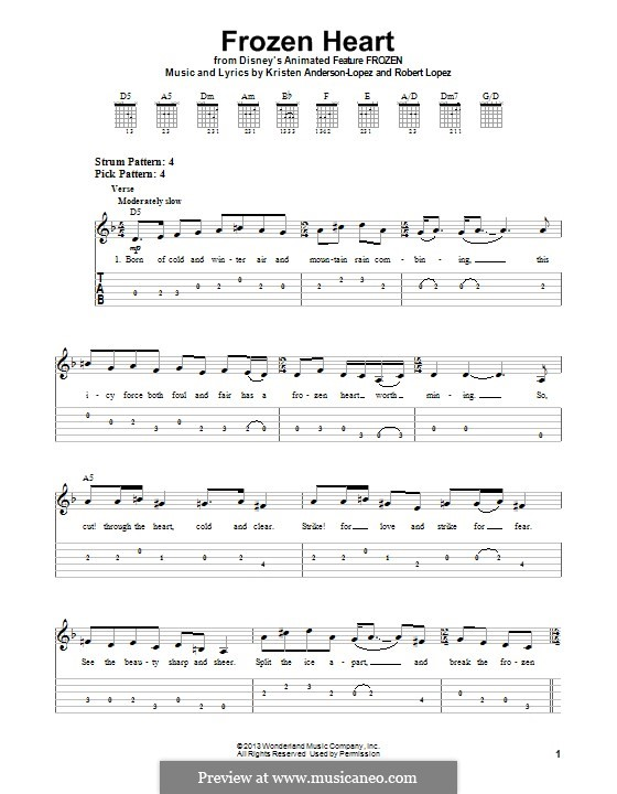 Frozen Heart: For guitar with tab by Robert Lopez, Kristen Anderson-Lopez