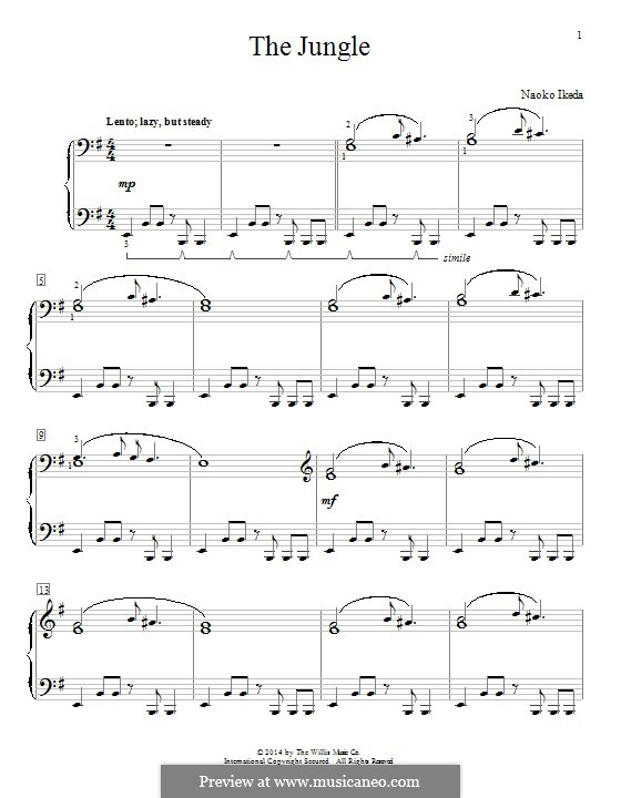 The Jungle: For piano by Naoko Ikeda